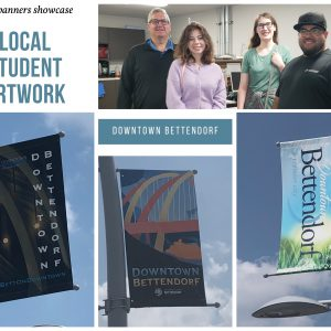 Local students' work showcased on new Downtown street banners